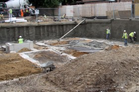 Gunite Construction Site
